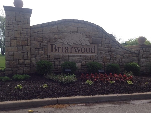 Entrance to the lovely Briarwood subdivision