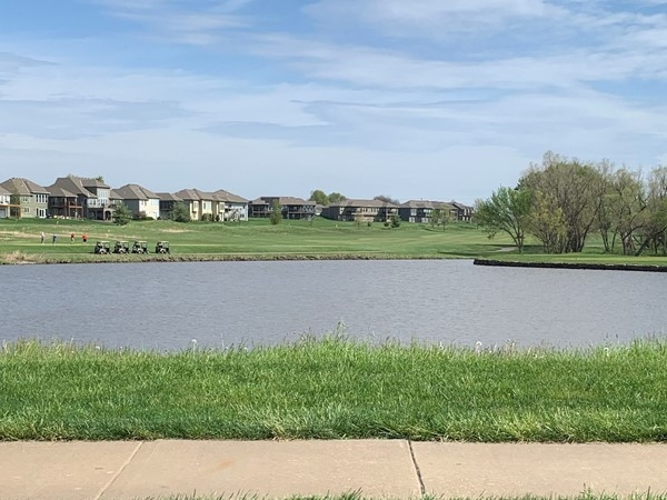Lake in Falcon Lakes around the golf course
