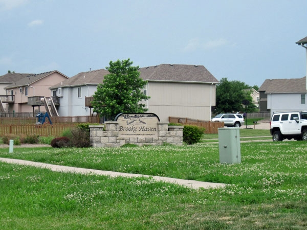 Entrance to Brooke Haven Subdivision
