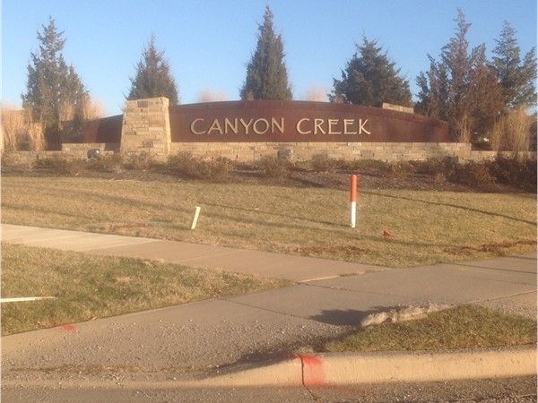 Canyon Creek - neighborhood entry monument...very impressive