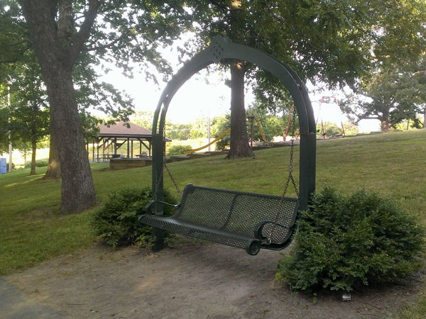 Full of old time fun, this park offers monkey bars and jungle gyms along with several swings.