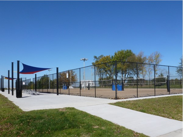 Sand volleyball courts in Lea McKeighan Park, Lee's Summit, MO