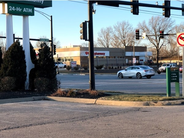The busy intersection near Plum Creek Estates