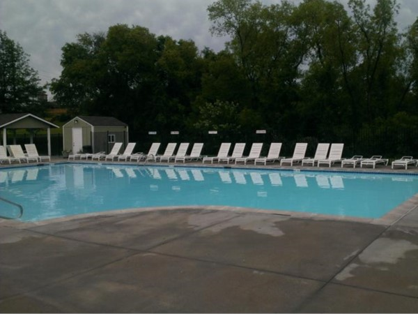 A rare shot of Clay Meadows pool with no one there