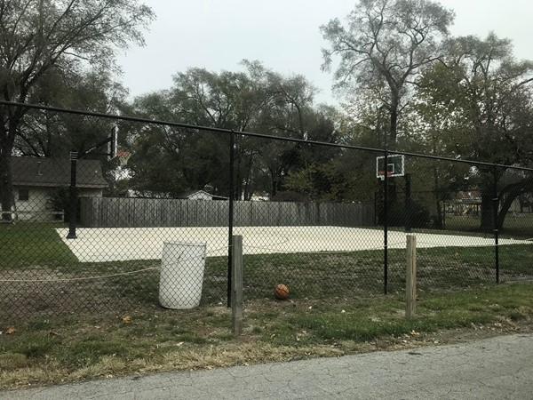 The basketball court in Lions Park was built by the Kearney Rotary Club