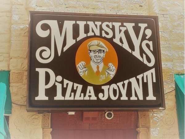 Just south of the Plaza, Minsky's, a locally owned, award winning pizza joint. Delicious