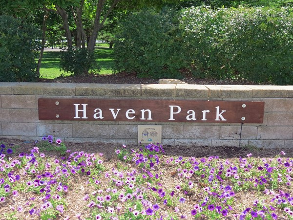 Haven Park near the Havencroft Subdivision