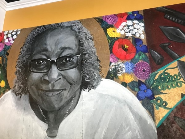 Mural of Thelma's Kitchen namesake