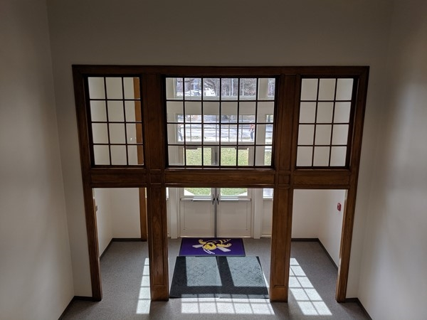 View of the entrance to main from the inside of North Kansas City High School