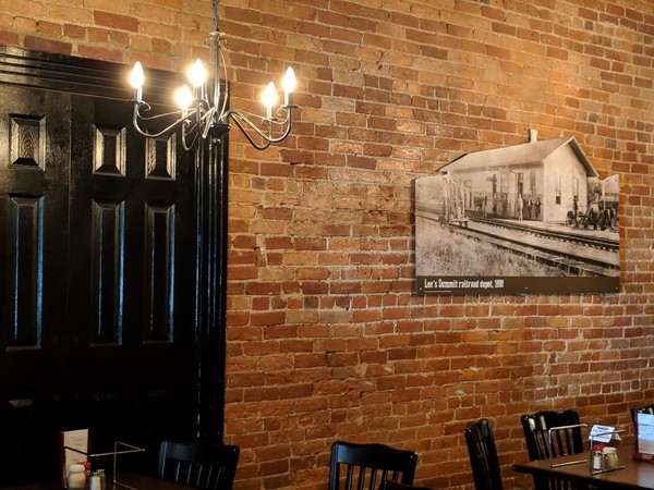 Some cool decor at Main Slice in Historic Downtown Lee's Summit