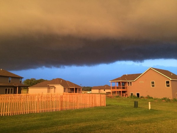 A summer storm moving over Platte City in Copper Ridge