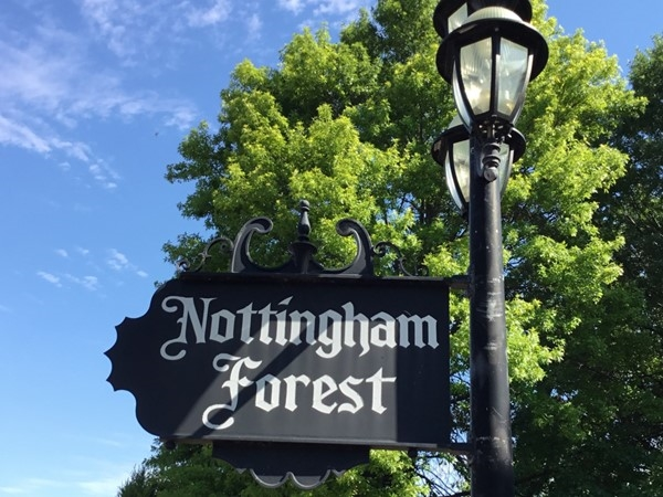 Nottingham Forest light pole sign