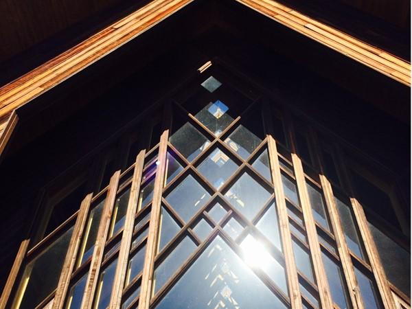Don't miss the beautiful Marjorie Powell Allen Chapel at Powell Gardens