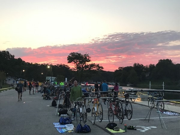 Sunrise over the Jeremy Katzenverger Triathlon which was a success this past weekend at C Point
