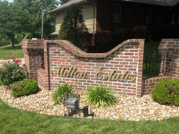 Milton Estates subdivision entrance.