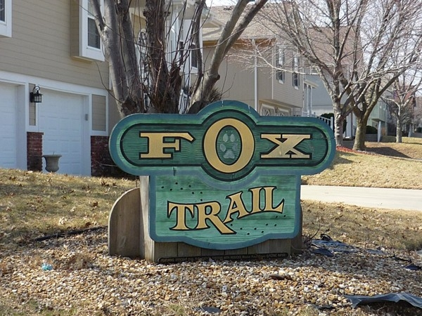 The Fox Trail subdivision sign