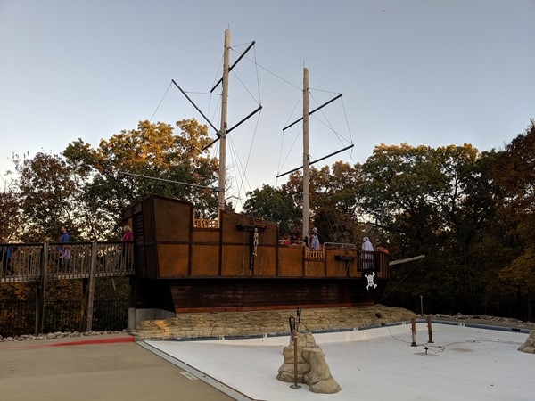 Pirate ship located at the Theodore Nash Scout Reservation. Cool