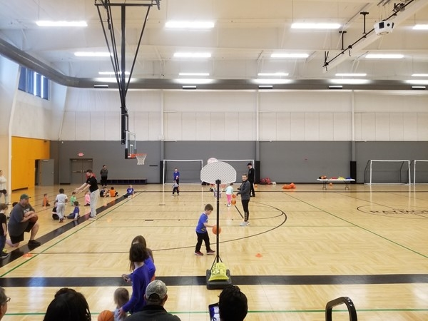 Basketball practice at the Raymore Community Center, by Canter Ridge, in Raymore