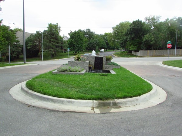Fountain at entrance on 119th Street