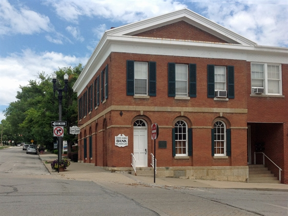 Historic Jesse James Bank Museum on the Liberty Square