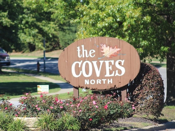 The Coves North welcome signage
