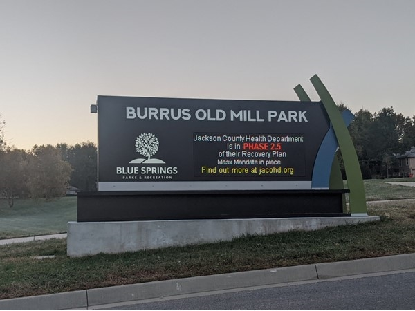 Fresh updated digital sign brings life back to Burrus Old Mill Park