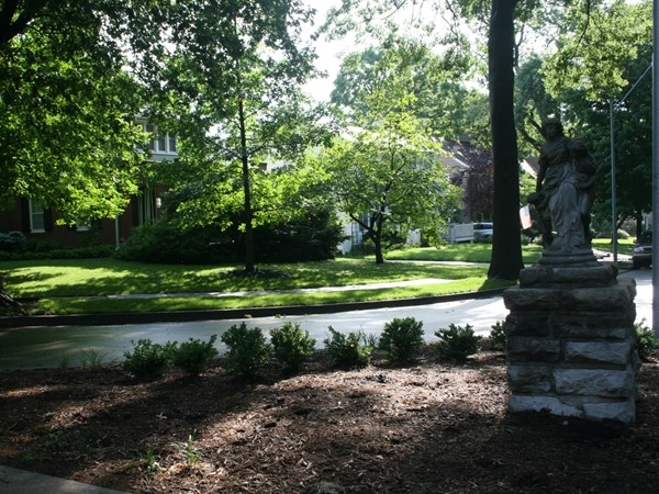 Brookside - a wonderful statue in the neighborhood