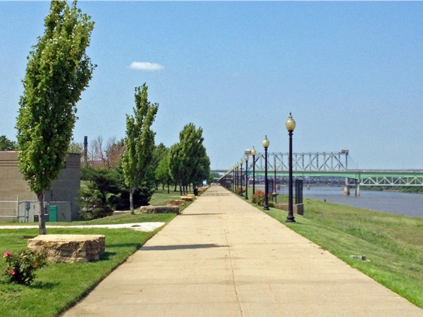 Enjoy a stroll in Berkley Park along the Missouri River north of downtown KCMO