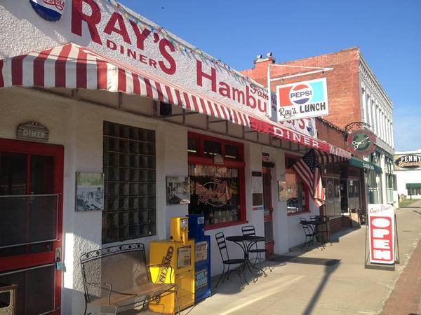 Best Cheeseburgers around at Rays Diner! A big part of Excelsior Springs History!