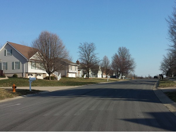 Beautiful sunny day in New Salem! Every one is waiting for the warm, green, sunny days ahead.