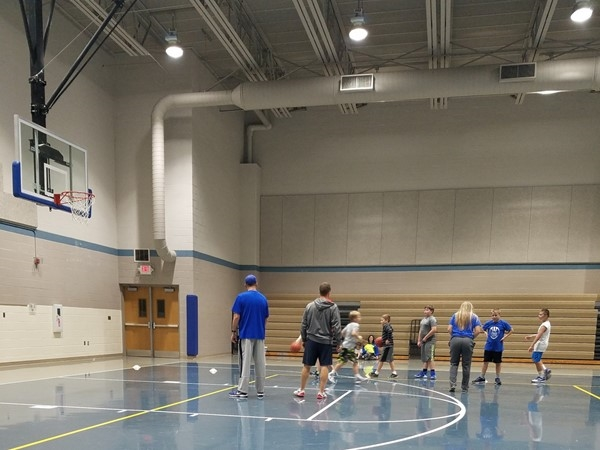 Youth basketball practice has begun! Good luck kids