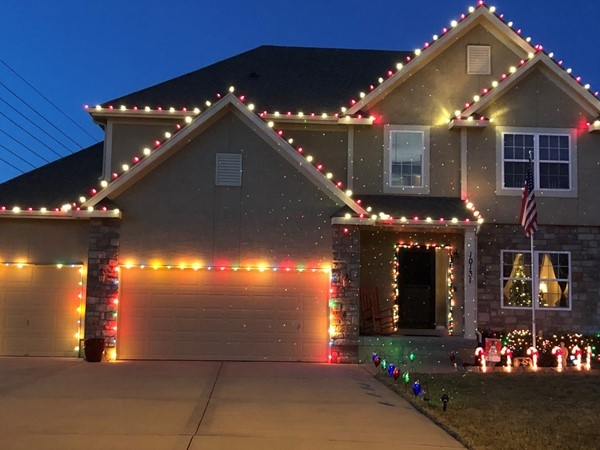 Santa will be able to spot this festive neighborhood