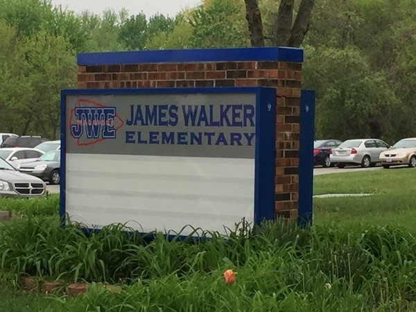 New sign for James Walker Elementary School