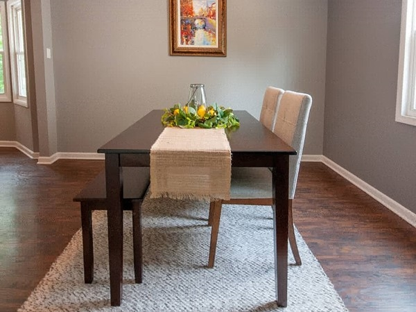 A beautifully staged dining room at Royal Oaks in Grandview. Courtesy of Staging Dreams