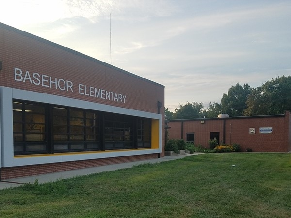 Freshly updated Basehor Elementary has modern appeal and a community garden