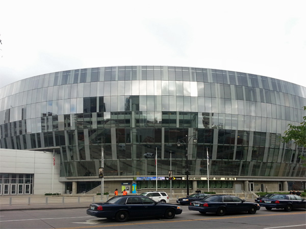 In the heart of downtown Kansas City sits the Sprint Center, home to concerts and sporting events.
