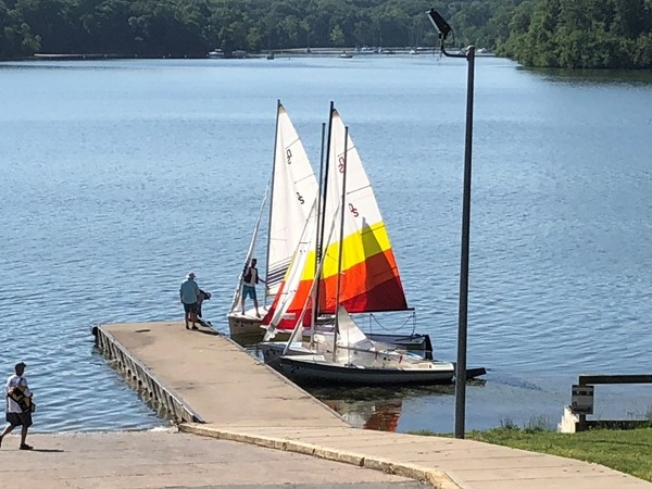 Getting ready for a day on the water...Lake Jacomo offers a variety of water activities