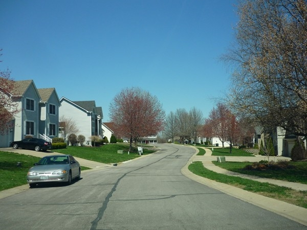 Northwest Westbrooke Drive on a bright spring day