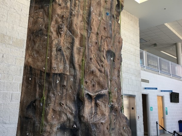 Climbing wall at North Kansas City YMCA