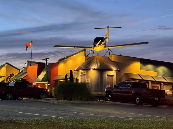The Mexican restaurant with the airplane on top. Great food and drinks