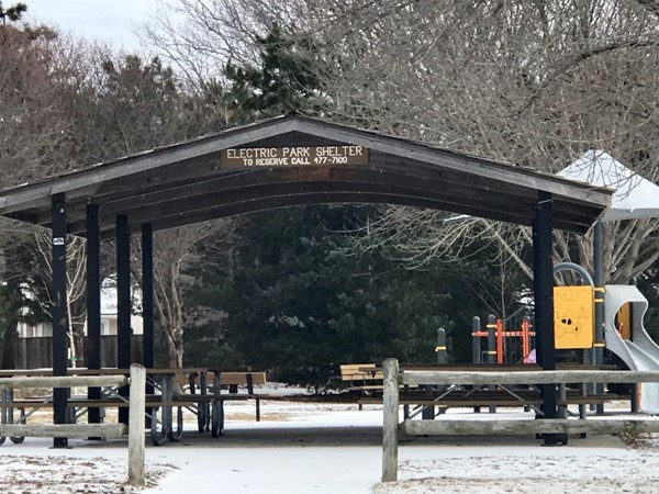 Electric Park shelter and second play area
