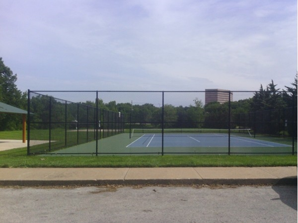 Tennis Courts in Shannon Valley Park. Corporate Woods in the background