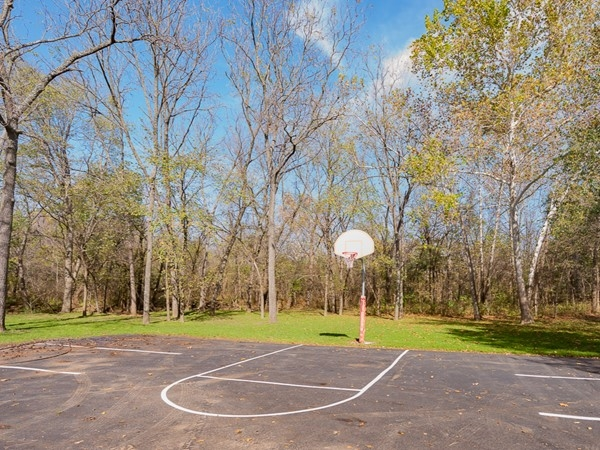 Community basketball court at Forest Park Estates