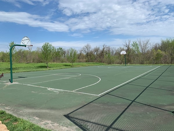 Falcon Lakes in Basehor has basketball courts
