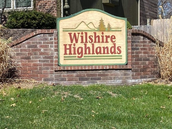 Wilshire Highlands Subdivision entrance