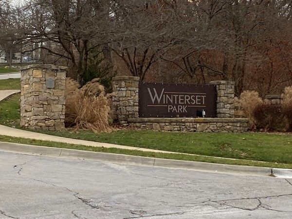 One of multiple entrances to Winterset Park