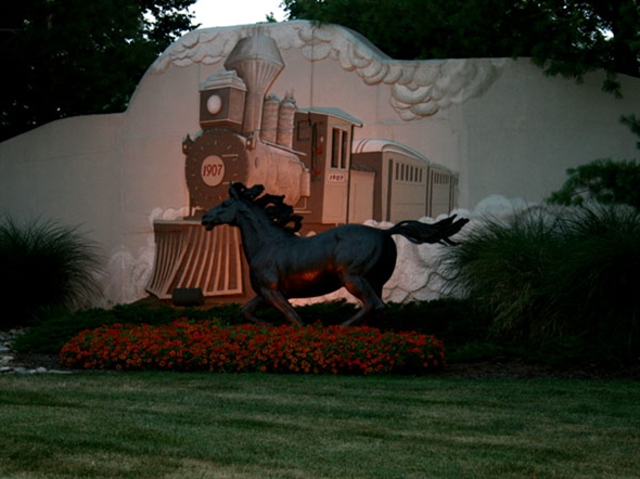 Sunset On the Estates of Iron Horse Entrance