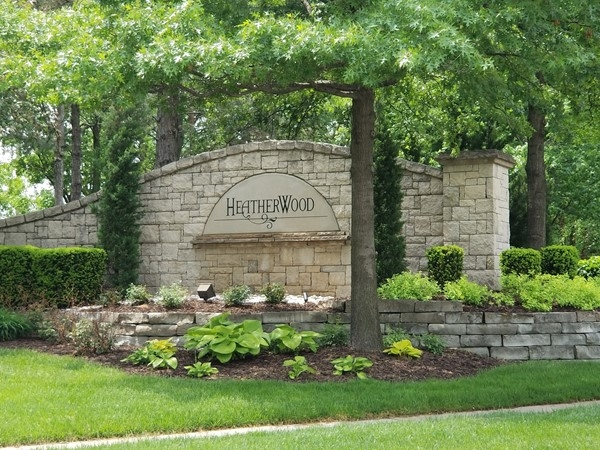 Heatherwood Subdivision monument on Metcalf
