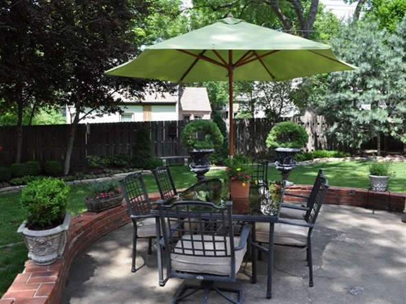 A beautiful backyard in the Romanelli West subdivision