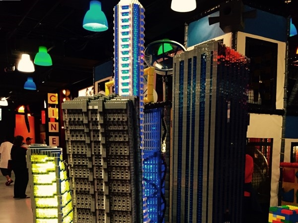 Lego model of unusual skyscrapers